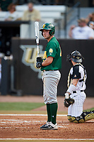 Siena Saints right fielder Nick Melillo (23) at bat during a game against the UCF Knights on February 17, 2019 at John Euliano Park in Orlando, Florida.  UCF defeated Siena 7-1.  (Mike Janes/Four Seam Images)