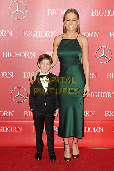2 January 2016 - Palm Springs, California - Jacob Tremblay, Brie Larson. 27th Annual Palm Springs International Film Festival Awards Gala held at the Palm Springs Convention Center.  <br /> CAP/ADM/BP<br /> &copy;BP/ADM/Capital Pictures