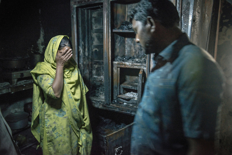 Joseph Colony 5: Brother and sister discover the looted & incinerated wardrobe safe.