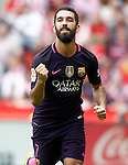 FC Barcelona's Arda Turan celebrates goal during La Liga match. September 24,2016. (ALTERPHOTOS/Acero)