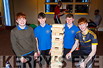 Daniel Herlihy, Cillian Cronin Donal Daly and ANthony Darmody SP Sliabh Luachra working on a jenga puzzle at the Wellbeing day in the INEC on Tuesday