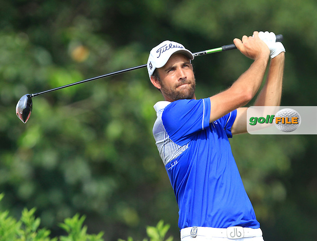 Steve Lewton (ENG) on the 7th tee during Round 4 of the CIMB Classic in the Kuala Lumpur Golf &amp; Country Club on Sunday 2nd November 2014.<br /> Picture:  Thos Caffrey / www.golffile.ie