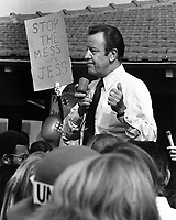 Jesse M. Unruh, powerfull California speaker of house running for Governor against Ronald Reagan. 1970.<br />