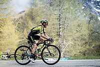 Simon Yates (GBR/Mitchelton-Scott) up the Colle San Carlo (Cat1/1921m/10.1km/9.8%)<br /> <br /> Stage 14: Saint Vincent to Courmayeur/Skyway Monte Bianco (131km)<br /> 102nd Giro d'Italia 2019<br /> <br /> ©kramon