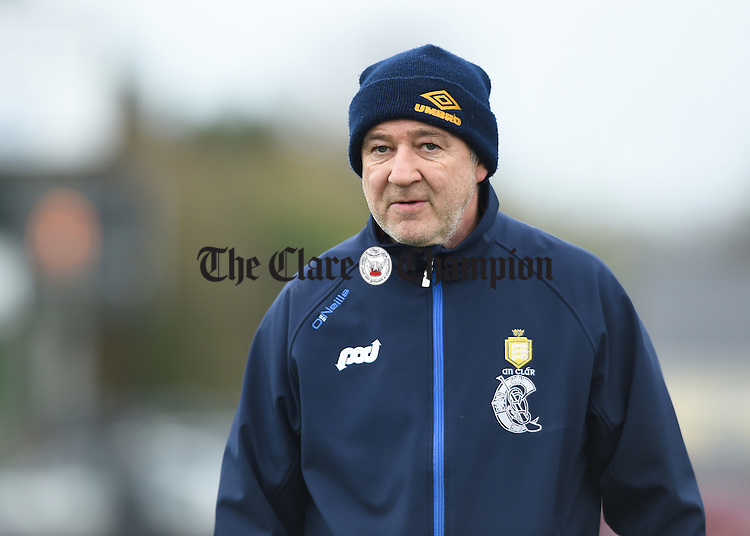 Newmarket on Fergus selector Brendan Mulcaire on the sideline against Milford during the Munster senior club final in Ballyagran. Photograph by John Kelly.