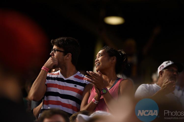 24 JUNE 2014:  The University of Virginia takes on Vanderbilt University during the Division I Men's Baseball Championship held at TD Ameritrade Park in Omaha, NE.  Jamie Schwaberow/NCAA Photos