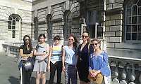 Students from the Criticism and Curating in Art & Design Summer Intensive on a trip to Somerset House.