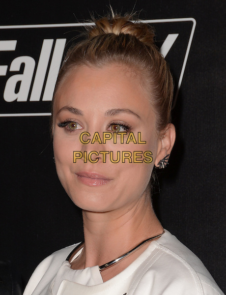 05 November - Los Angeles, Ca - Kaley Cuoco. Arrivals for the official launch party of the video game &quot;Fallout 4&quot; held at a private location in Downtown LA.  <br /> CAP/ADM/BT<br /> &copy;BT/ADM/Capital Pictures