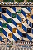 Tiles in the Real Alcazar Gardens, Seville