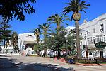 Paseo Alameda pedestrianised street, Tarifa, Cadiz province, Spain