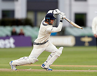 Sean Dickson drives for Kent during day 1 of the four day tour match between Kent CCC and Pakistan at the St Lawrence Ground, Canterbury, on Sat April 28, 2018