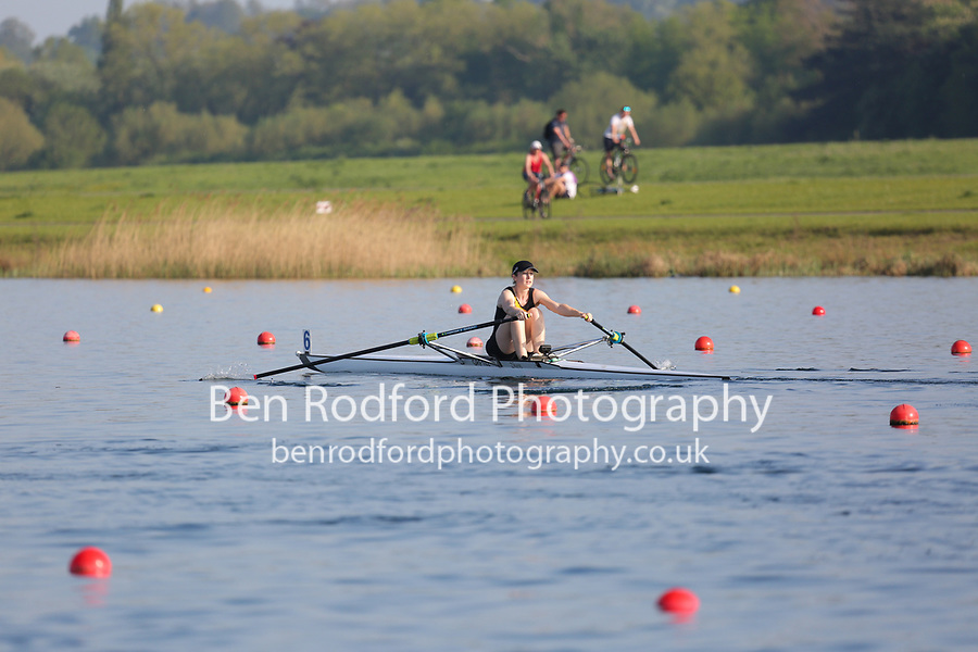 Race: 106  Event: W Club 1x  Final<br /> <br /> Wallingford Regatta 2018<br /> <br /> To purchase this photo, or to see pricing information for Prints and Downloads, click the blue 'Add to Cart' button at the top-right of the page.