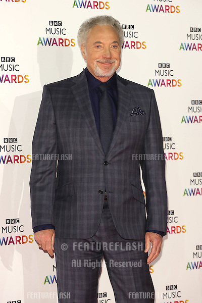 Tom Jones arriving for The BBC Music Awards 2014 held at Earls Court, London. 11/12/2014 Picture by: James Smith / Featureflash