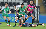Connacht centre Bundee Aki makes an early break through the Ospreys defence.<br /> Guiness Pro12<br /> Ospreys v Connacht<br /> Liberty Stadium<br /> 31.10.14<br /> &copy;Steve Pope-SPORTINGWALES
