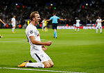 Tottenham's Harry Kane celebrates scoring his sides second goal during the champions league match at Wembley Stadium, London. Picture date 13th September 2017. Picture credit should read: David Klein/Sportimage