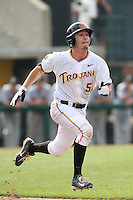 Garrett Stubbs (51) of the Southern California Trojans runs the bases during a game against the Oakland Grizzlies at Dedeaux Field on February 21, 2015 in Los Angeles, California. Southern California defeated Oakland, 11-1. (Larry Goren/Four Seam Images)