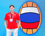 Sergey Evstigneev in action during game between Russia  against Slovakia  LEN European Water Polo Championships, Barcelona 16.07.2018