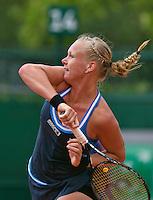 France, Paris, 27.05.2014. Tennis, French Open,Roland Garros, Kiki Bertens (NED) in her match against Alexandra Cadantu (ROU)<br /> Photo:Tennisimages/Henk Koster