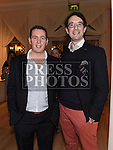 """John Kieran who won the """"Cutie in a suit' award with Bryan Lynch pictured at the Ardee Traders annual awards night in the Nuremore Hotel. Photo:Colin Bell/pressphotos.ie"""