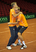 11-sept.-2013,Netherlands, Groningen,  Martini Plaza, Tennis, DavisCup Netherlands-Austria, Practice, Jan Siemerink and Thiemo de Bakker®<br /> Photo: Henk Koster