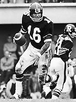 Rick Cassata Ottawa Rough Riders quarterback 1971. Copyright photograph Ted Grant
