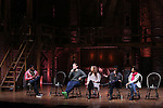 Okieriete Onaodowan, Rory O'Malley, Lexi Lawson, Michael Luwoye and Syndee Winters performing before the Gilder Lehman Institute of American History Education Matinee of 'Hamilton' at the Richard Rodgers  Theatre on November 2, 2016 in New York City.