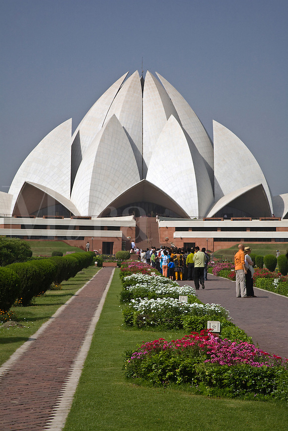THE BAHAI HOUSE OF WORSHIP known as the LOTUS TEMPLE was completed in 1986 -  NEW DELHI, INDIA