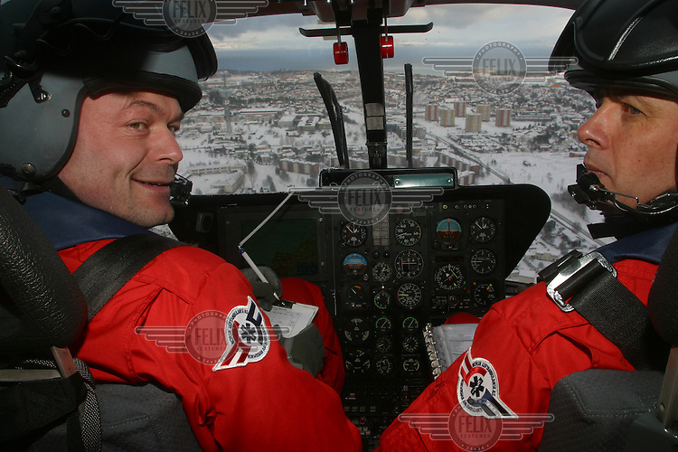 Pictures of Norwegian Air Ambulance at work, operating out of Trondheim. The helicopter crew consist of a pilot, a crew member/rescue professional, and a physician.
