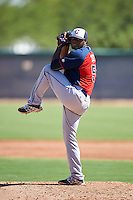 Cleveland Indians pitcher Felix Tati (51) during an Instructional League game against the Los Angeles Dodgers on October 10, 2016 at the Camelback Ranch Complex in Glendale, Arizona.  (Mike Janes/Four Seam Images)