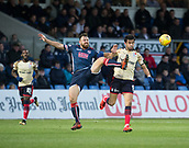 2nd December 2017, Global Energy Stadium, Dingwall, Scotland; Scottish Premiership football, Ross County versus Dundee; Ross County's Kenny van der Weg battles for the ball with Dundee's Sofien Moussa