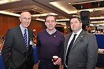 IHF- REPRO FREE HOTELIERS CONFERENCE KILLARNEY: .Padraig Treacy, Killarney Park Hotel, Paul Gallagher, Buswells Hotel, Dublin and Tom Randles, Randles Court Hotel, Killarney pictured at the IHF conference in The Malton Hotel, Killarney on Monday..Picture by Don MacMonagle...PR photo IHF