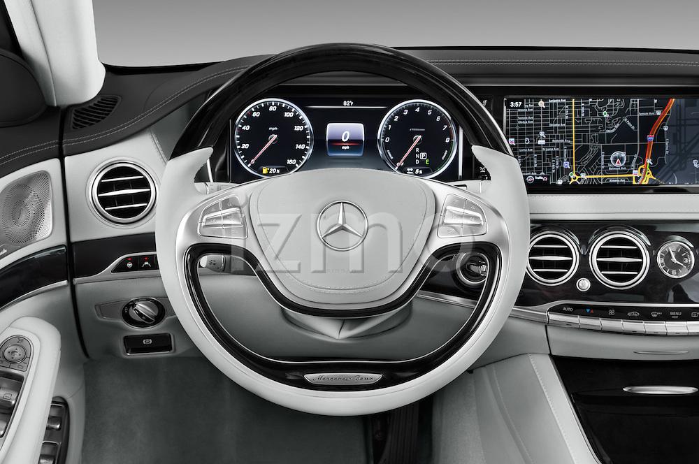 Car pictures of steering wheel view of a 2016 Mercedes Benz S-Class S550-PLUG-IN-HYBRID 4 Door Sedan Steering Wheel