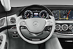 Car pictures of steering wheel view of a 2016 Mercedes Benz S-Class S550-PLUG-IN-HYBRID 4 Door Sedan Steering Wheel