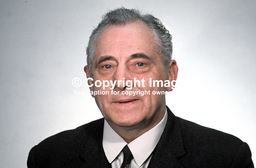 Joseph Burns, MP, Ulster Unionist, N Ireland Parliament, Stormont, 196903000133.<br />