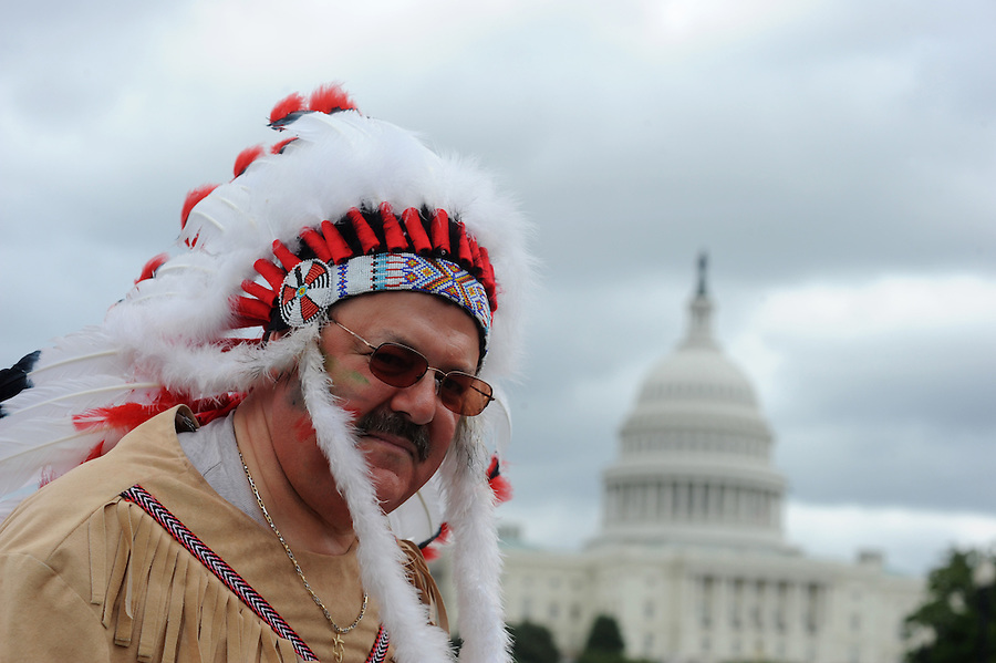 "Hymie Zoltsveis, of NYC, marches to the U.S. Capitol during the Tea Party Protest on Sept. 12, 2009 in Washington, DC. ""I'm disgusted with Congress and the President thinking that they work for eachother. Maybe it's time we throw them all out,"" said Zoltsveis."