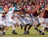 Hawgs Illustrated/BEN GOFF <br /> T.J. Hammonds, Arkansas running back, carries in the fourth quarter Saturday, Nov. 4, 2017, at Reynolds Razorback Stadium in Fayetteville.
