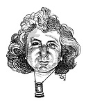 Passing Through. (Caricature portrait of Michael Winner with Director's Eyepiece)