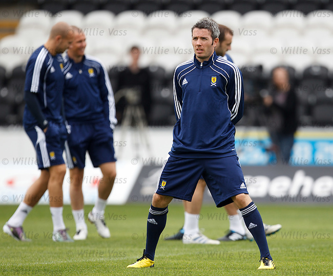 Kevin McNaughton at Scotland training