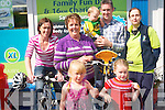 Everyone is invited to attend the Cromane Fun day and charity cycle this weekend to raise funds for two local causes and bring the community together. .Back L-R Tracy Murphy, Margaret Griffin, Jerome Griffin, and Sheila Sweeney. .Front L-R Lily-sue Eyers and Erin Murphy