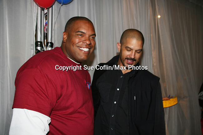 One Life To Live's Terrell Tilford and Sean Ringgold at the 2009 Daytime Stars and Strikes to benefit the American Cancer Society on October 11, 2009 at the Port Authority Leisure Lanes, New York City, New York. (Photo by Sue Coflin/Max Photos)