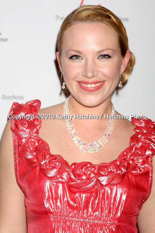 Adrienne Frantz.arrivng at The Young & The Restless 37th Anniversary Dinner.Via Allorro.Beverly Hills, CA.March 9, 2010.©2010 Kathy Hutchins / Hutchins Photo....