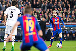VfL Borussia Monchengladbach's Tobias Strobl, FC Barcelona's Lucas Digne, Leo Messi  during Champions League match between Futbol Club Barcelona and VfL Borussia Mönchengladbach  at Camp Nou Stadium in Barcelona , Spain. December 06, 2016. (ALTERPHOTOS/Rodrigo Jimenez)