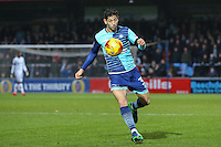 Joe Jacobson of Wycombe Wanderers during the Sky Bet League 2 match between Wycombe Wanderers and Morecambe at Adams Park, High Wycombe, England on 12 November 2016. Photo by David Horn.