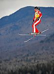 19 January 2008: Jacqui Cooper from Australia jumps in practice round action prior to the FIS World Cup Freestyle Ladies' Aerial competition at the MacKenzie Ski Jump Complex in Lake Placid, New York, USA. Cooper finished first in both the Qualification Round and the Finals to take the gold medal...Mandatory Photo Credit: Ed Wolfstein Photo