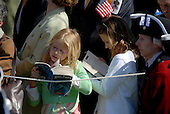 "Washington, DC - April 15, 2008 -- Bored children read ""Harry Potter as they attend the arrival ceremony for Pope Benedict XVI at the White House in Washington, D.C. on Wednesday, April 16, 2008.  .Credit: Ron Sachs / CNP.(RESTRICTION: NO New York or New Jersey Newspapers or newspapers within a 75 mile radius of New York City)"