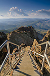 Stairway up to the lookout at the summit of the Sierra Buttes, Tahoe National Forest, Sierra County, California