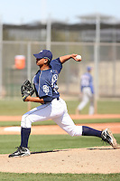 Deiber Sanchez, San Diego Padres minor league spring training..Photo by:  Bill Mitchell/Four Seam Images.