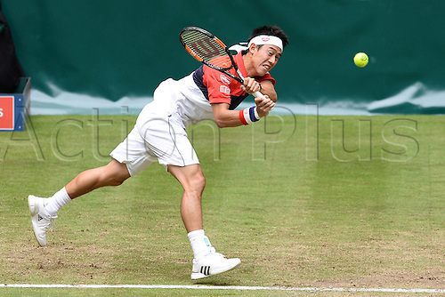 17.06.2015. Halle, Germany. Gerry Webber Tennis tournament. Kei Nishikori ( JPN )