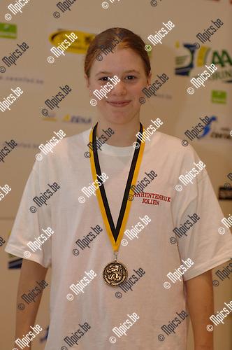 400m vrije slag meisjes '93: Jolien Vanhentenrijk (HZS) won
