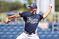 Tampa Bay Rays pitcher Ryan Carpenter #38 during an Instructional League game against the Baltimore Orioles at Charlotte County Sports Park on October 7, 2011 in Port Charlotte, Florida.  (Mike Janes/Four Seam Images)